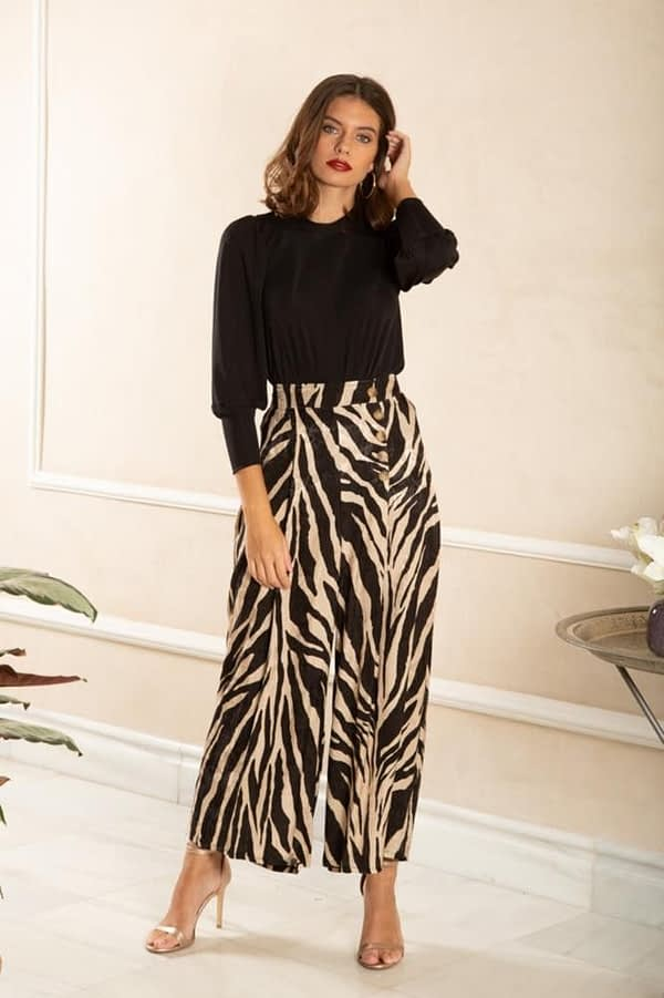 Pantalon culotte animal print CAYRO